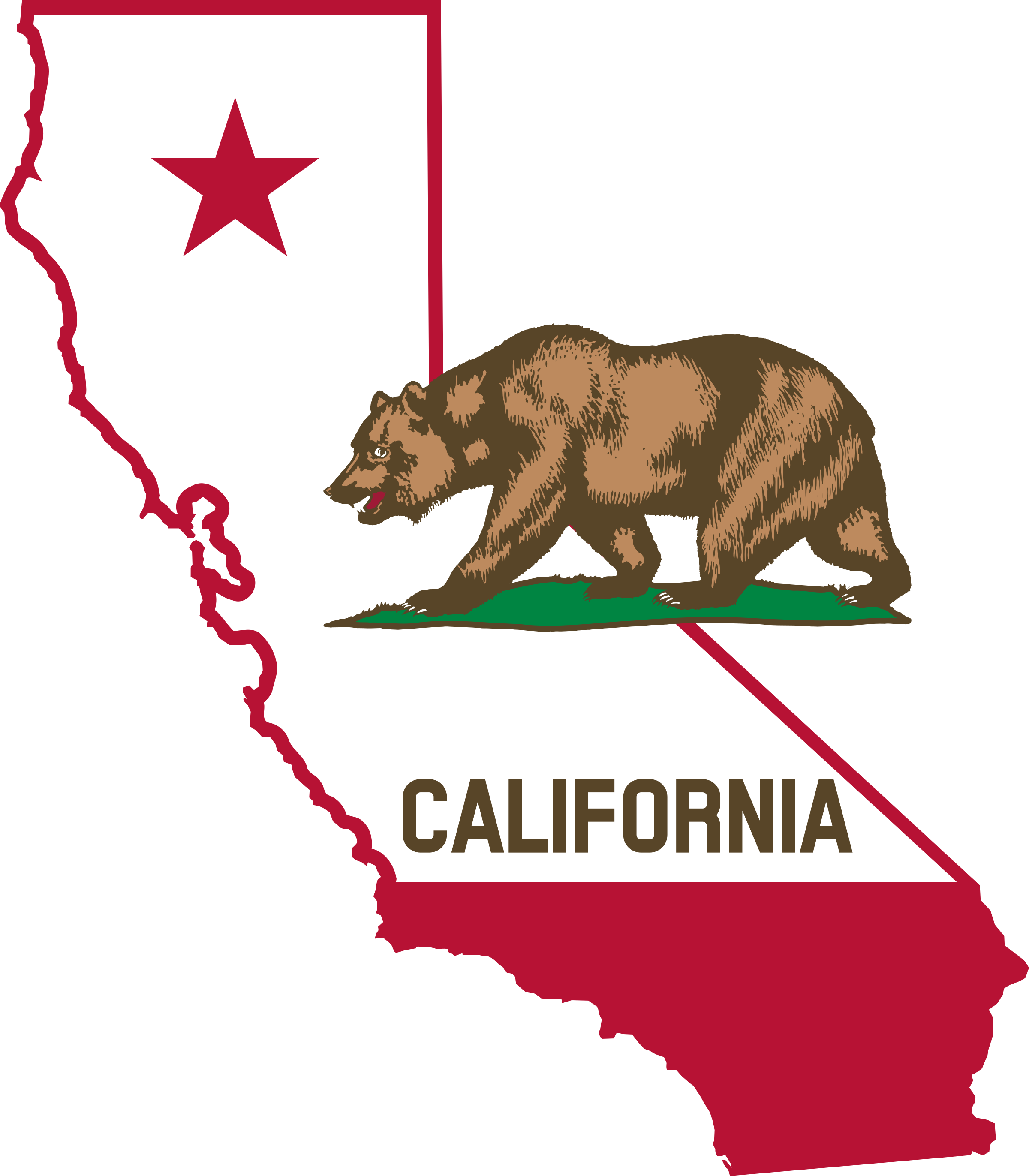 California Outline And Flag Png 2400 2743 California State Outline California Outline California Map