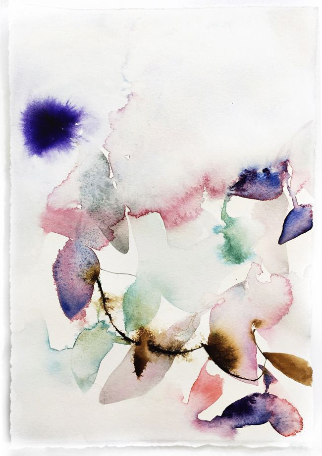 Abstract Watercolor Study Effervescent Abstract