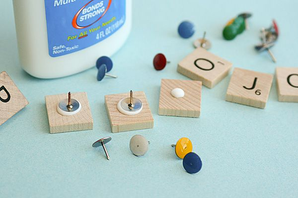DIY Scrabble Push PIns