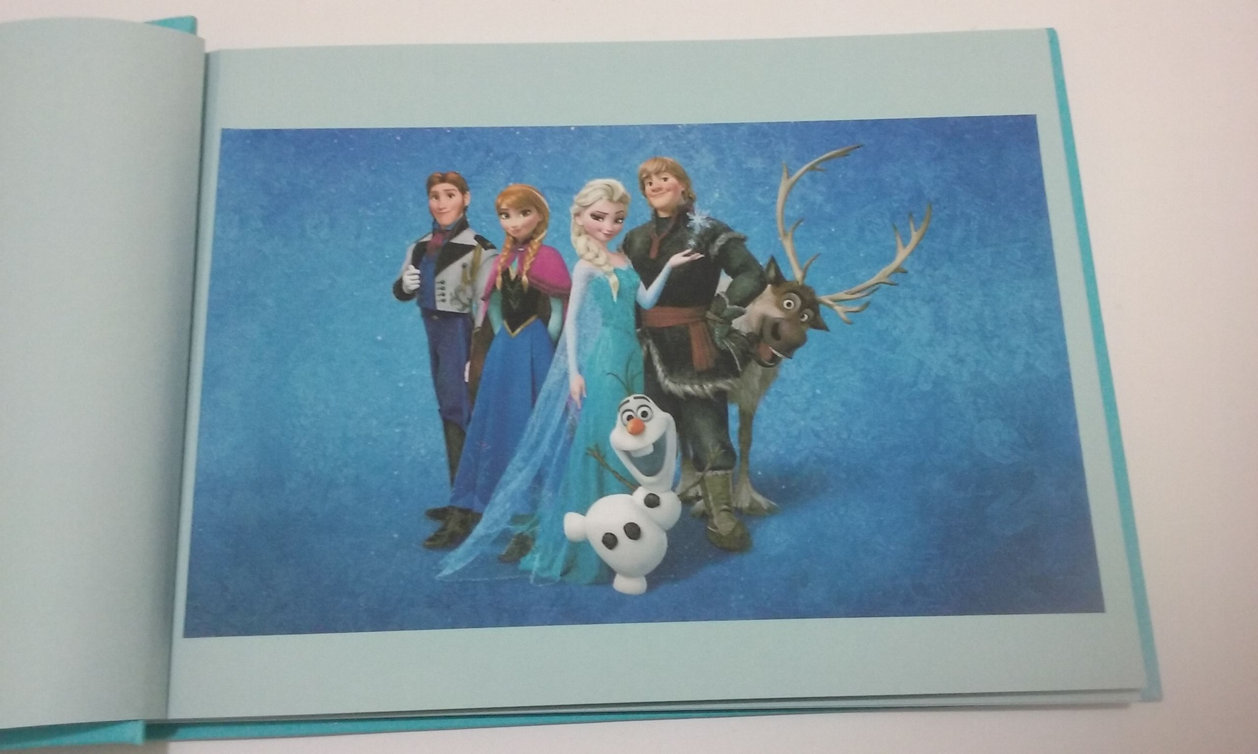 Livro de assinatura Frozen, com 50 folhas e algumas decoradas