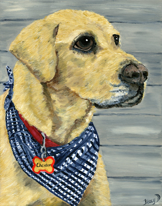 Pet Portraits Memorial Pet Painting Special Gift Idea Acrylic Pet ...