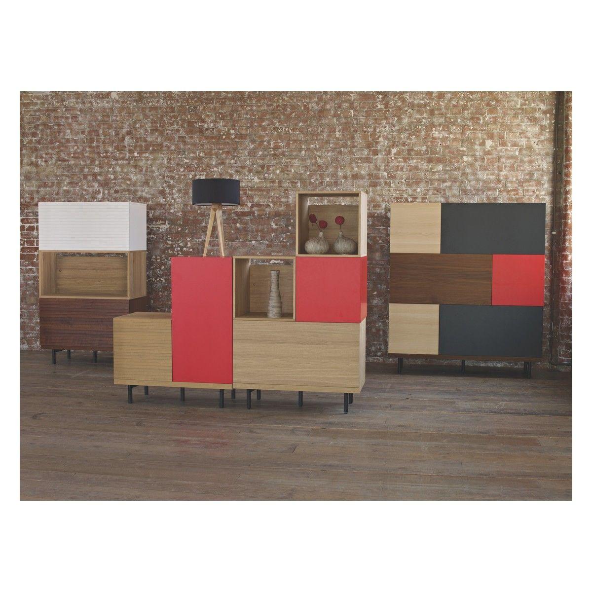 Bocksey Large Oak Storage Box With Slatted Door Mobilier Contemporain Habitat Meubles Modulaires