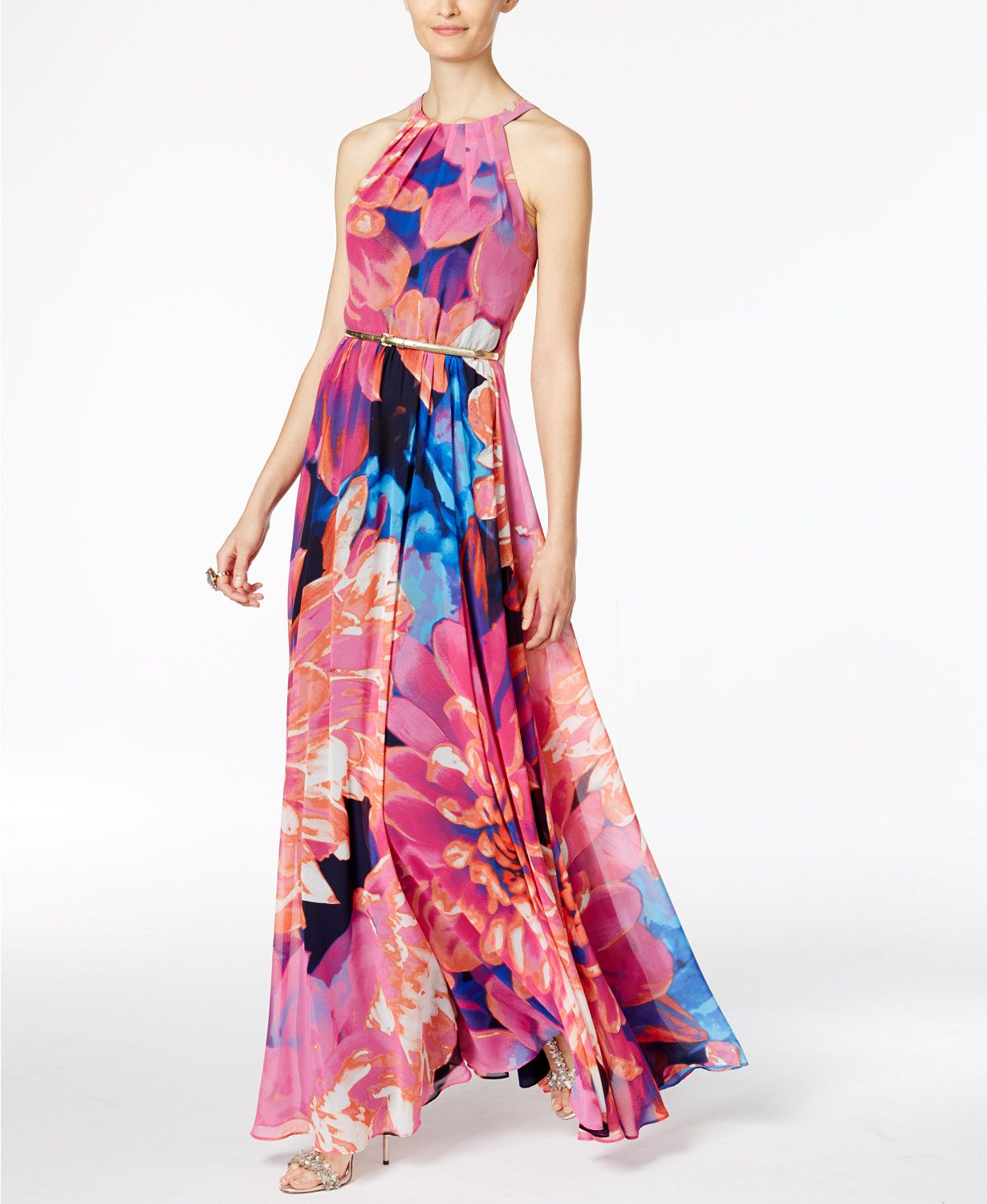INC International Concepts Floral-Print Maxi Dress, Only at Macy\'s ...