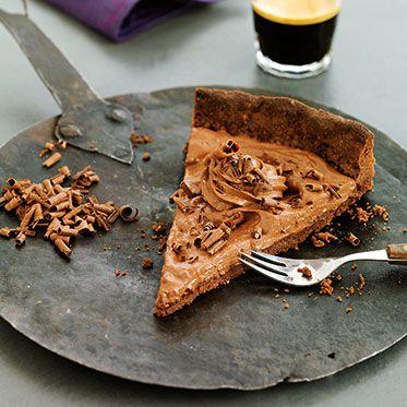schokomousse tarte kakao m rbeteig mit l mit zartbitterschokoladen sahne mousse http www. Black Bedroom Furniture Sets. Home Design Ideas