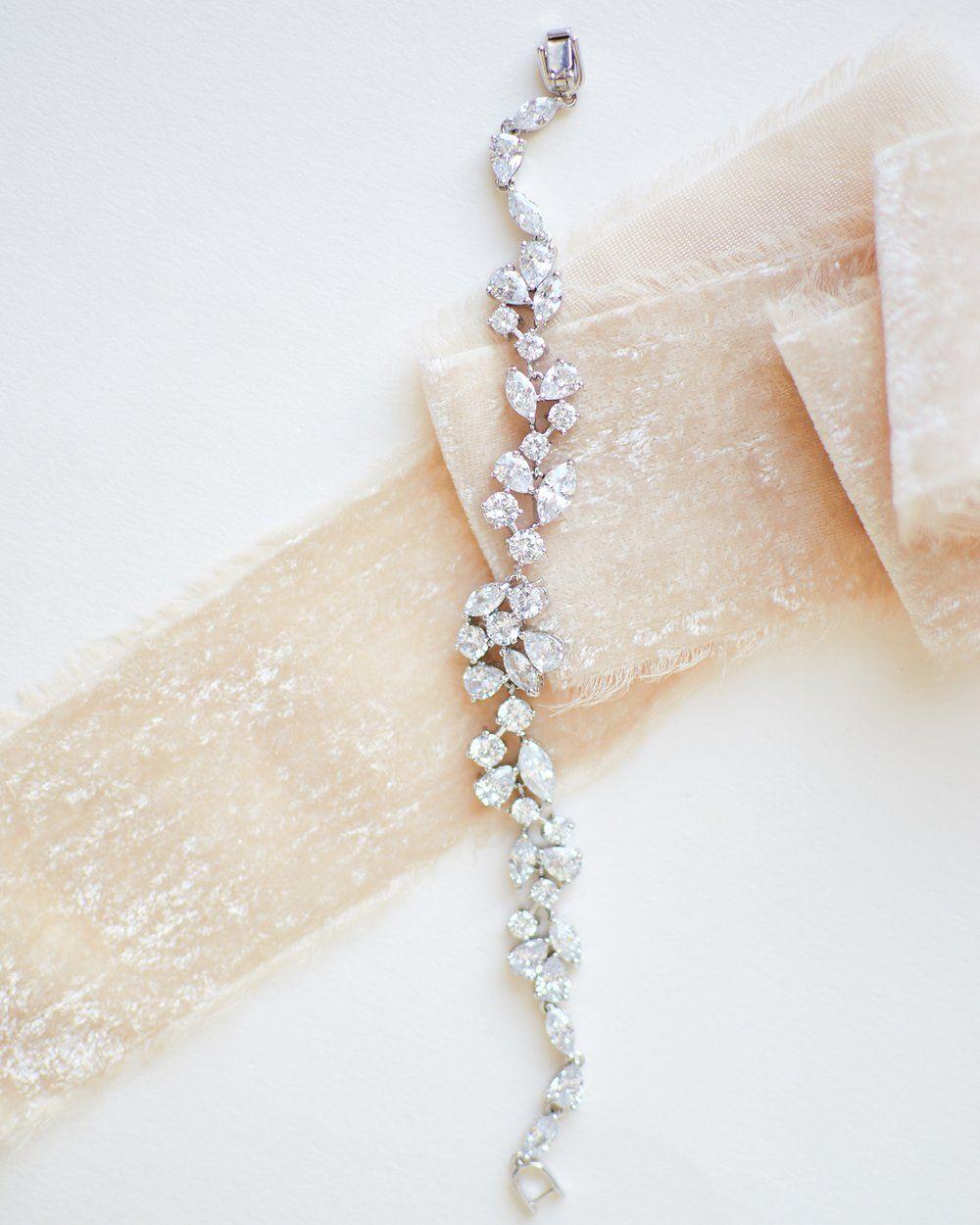 62c9609055 Delicate CZ Bracelet, Wedding Jewelry Bracelet, Wedding Jewelry Ideas,  Bride Bracelet, Bridal Bracelet, Wedding Bracelets, Bridal Jewelry, ...