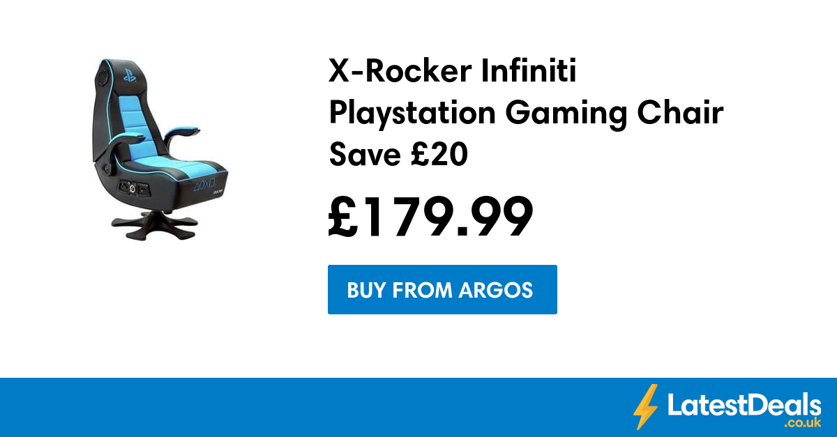 XRocker Infiniti Playstation Gaming Chair Save £20, £179
