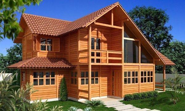 A casa de madeira é mais barata e mais rápida de construir