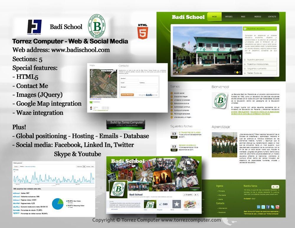Badi School - HTML 5, Google Map integration. Contact US ...