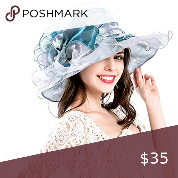 Wide Brim Ruffle Derby Hat Derby Hats Wide Brimmed Layers Design