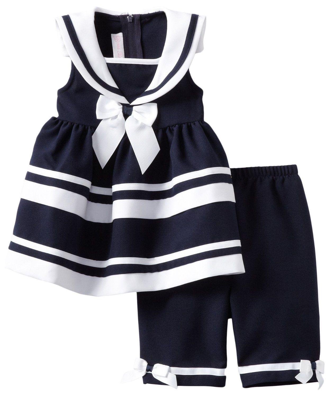 muchos de moda fecha de lanzamiento gran inventario Amazon.com: Bonnie Bebé Niño Niñas Marina Náutico de vestir ...