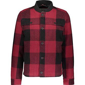Black red bomber jacket