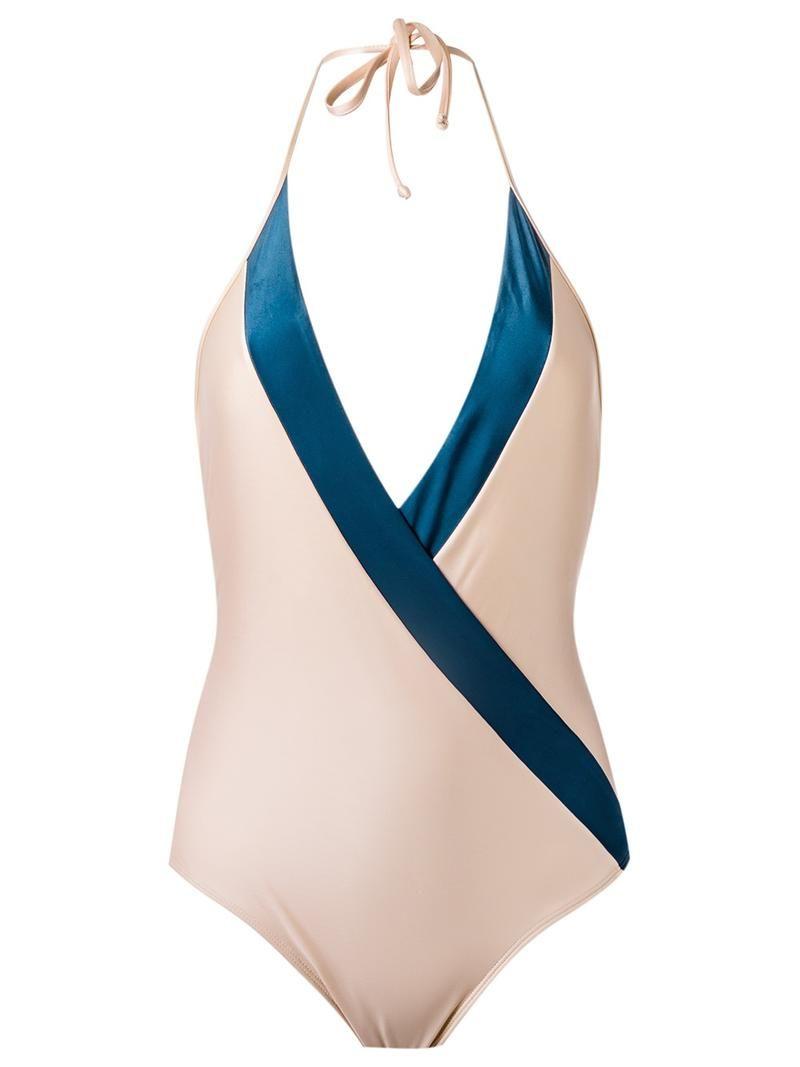 7f368a8ad2 Maiô frente único - Maiô frente único nude e azul