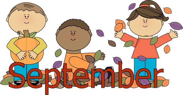 Fall Clip Art For Face Book Kids Autumn Scene Clip Art September Kids Autumn Scene Image September Clipart Welcome September Images September Images