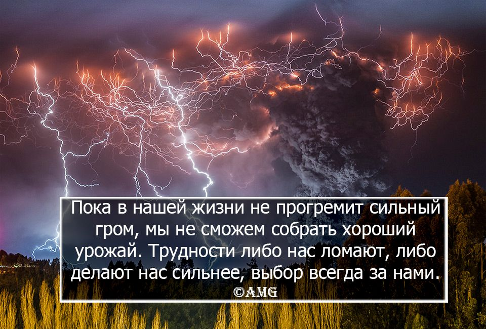 Unless we have a strong thunder in our life we can't get a great harvest. Difficulties either break us or make us stronger, the choice is always ours ©AMG #quotes #qoute #quoteoftheday #цитаты #цитатадня #фразадня #жизньвцитатах #lifeinquotes #AMG
