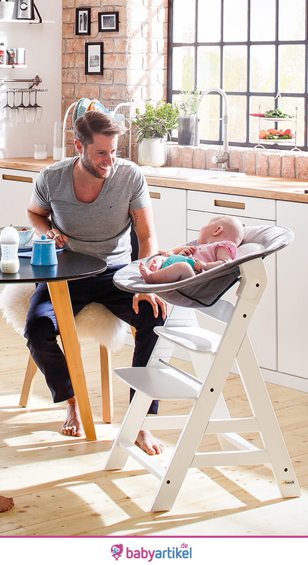hauck alpha plus wei newborn set hochstuhl neugeboreneneinsatz wippe. Black Bedroom Furniture Sets. Home Design Ideas