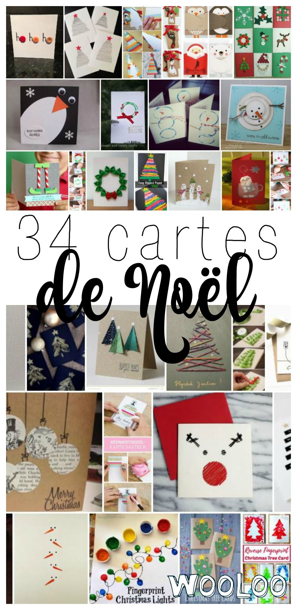 Voici 34 jolies carte de #noel pour vous inspirer dans la créations de vos chefs-d'oeuvre  #carte #DIY #christmas