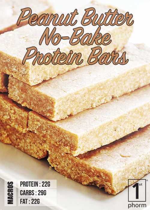 1st Phorm Peanut Butter No Bake Protein Bars 1st Phorm Peanut Butter No Bake No Bake Protein Bars Easy Peanut Butter