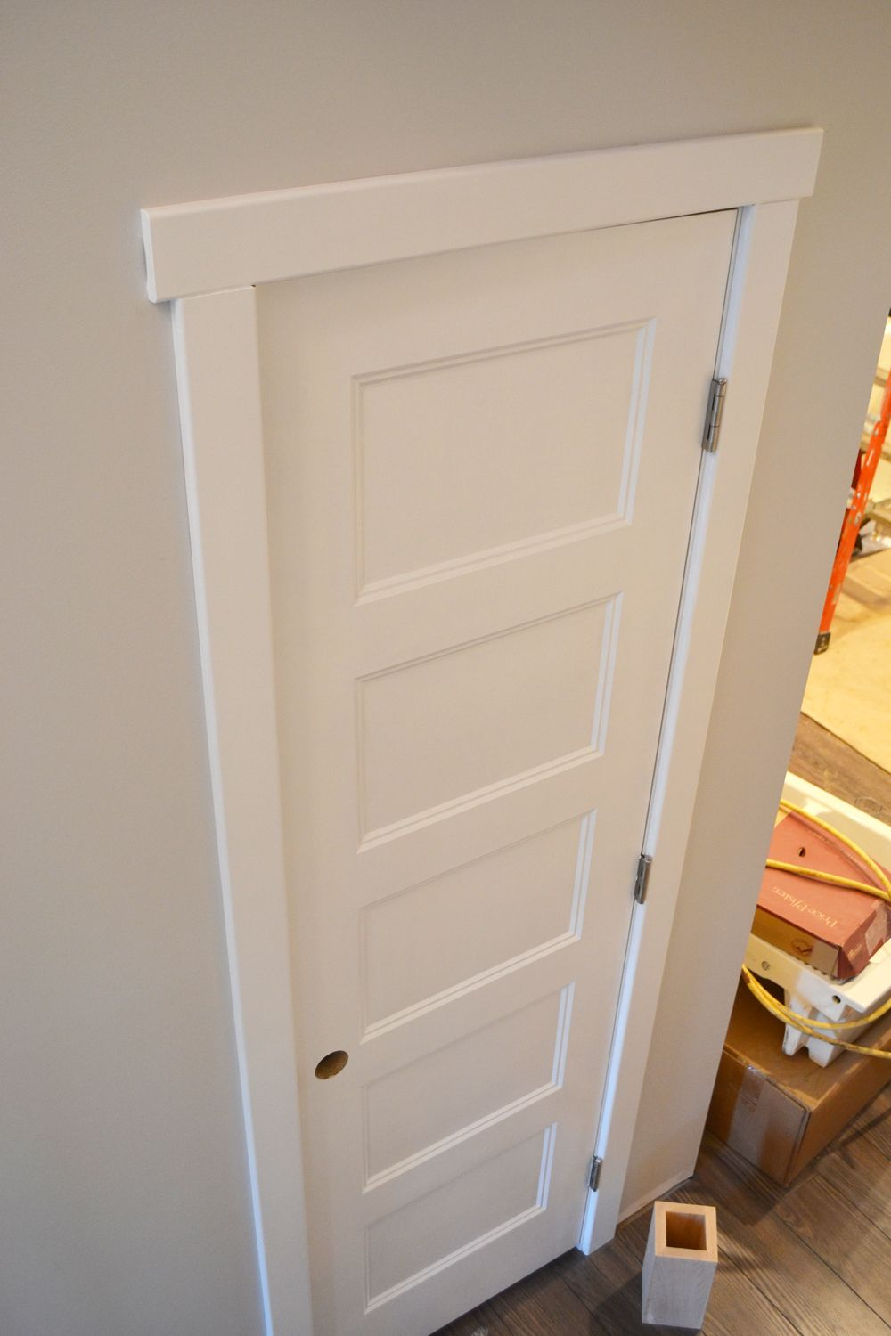 Craftsman window trim styles - Painting Doors With A Streak Free Finish Where We Found Our Gorgeous Shaker Craftsman Trimtraditional