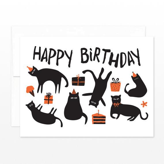 Funny Cats Birthday Card