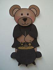 3D ~ 1059 Bear  Cauldron Halloween Card making Scrapbook Embellishment