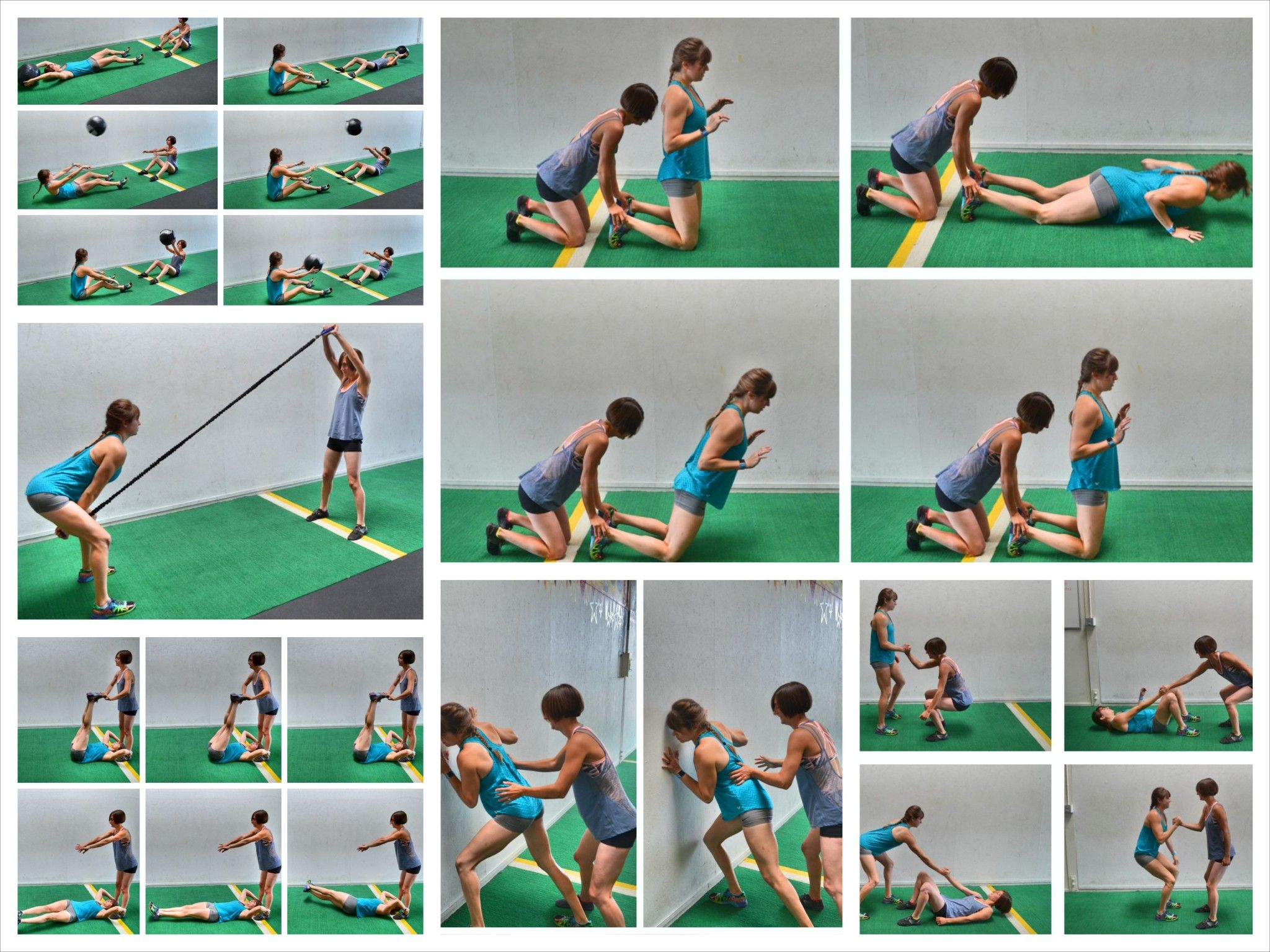 Kids Playing Leapfrog In Gym