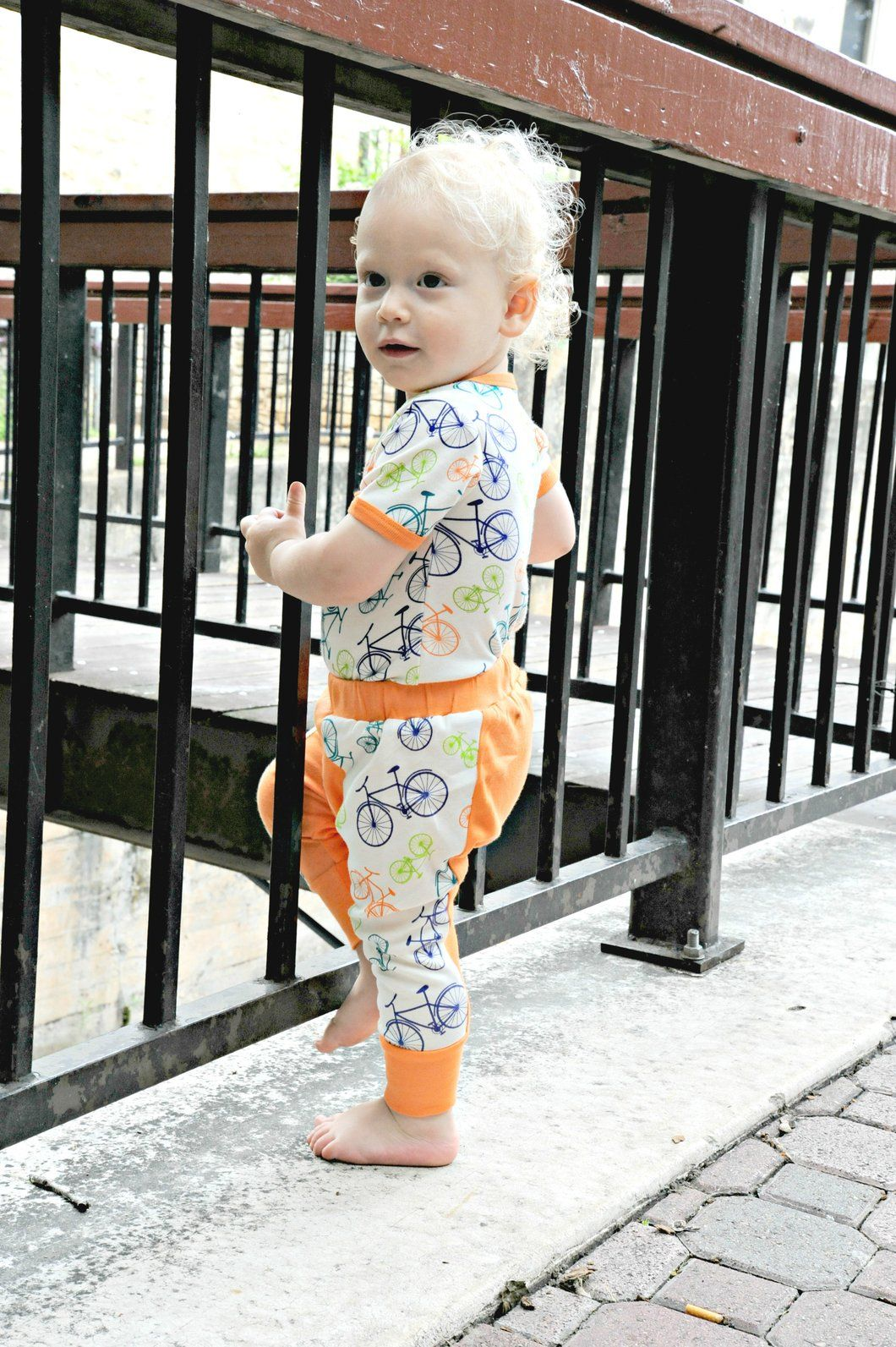 Organic Cotton Harem Pants - Bicycle