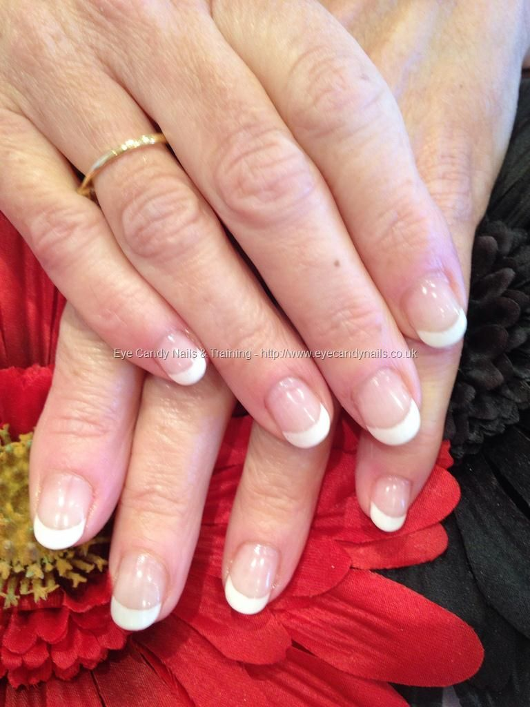 Soak off white French polish gel on natural nail overlays | Glam Fun ...