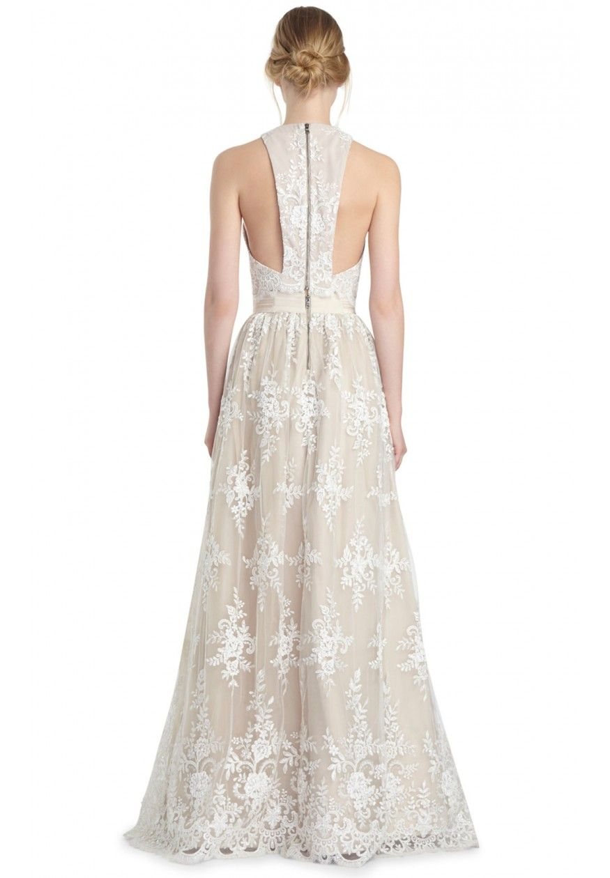 CARTER BALL GOWN SKIRT in WHITE / NUDE by Alice + Olivia | Wedding ...
