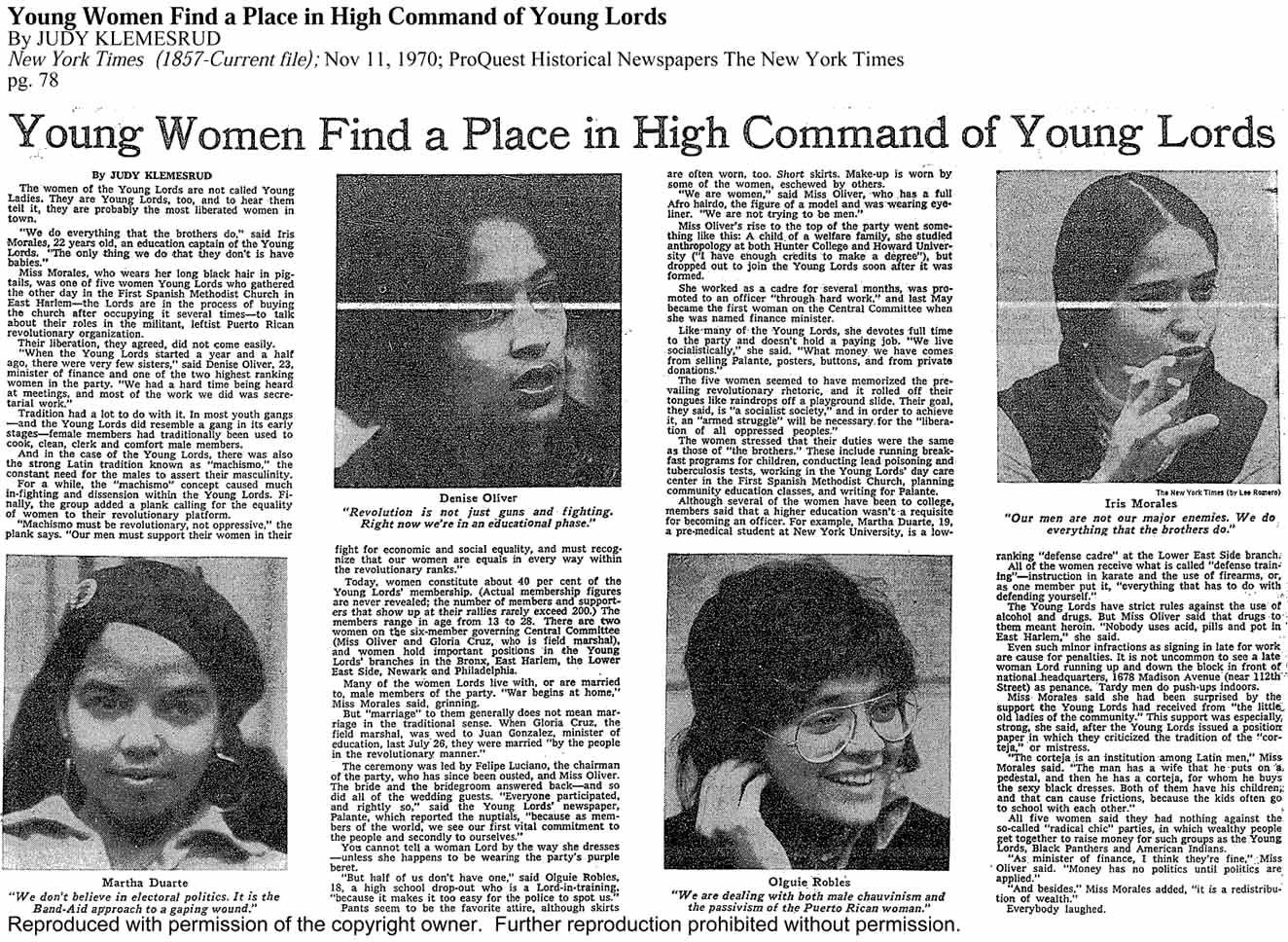 Espe's GED teacher Maite was a member of the Young Lords Party ...