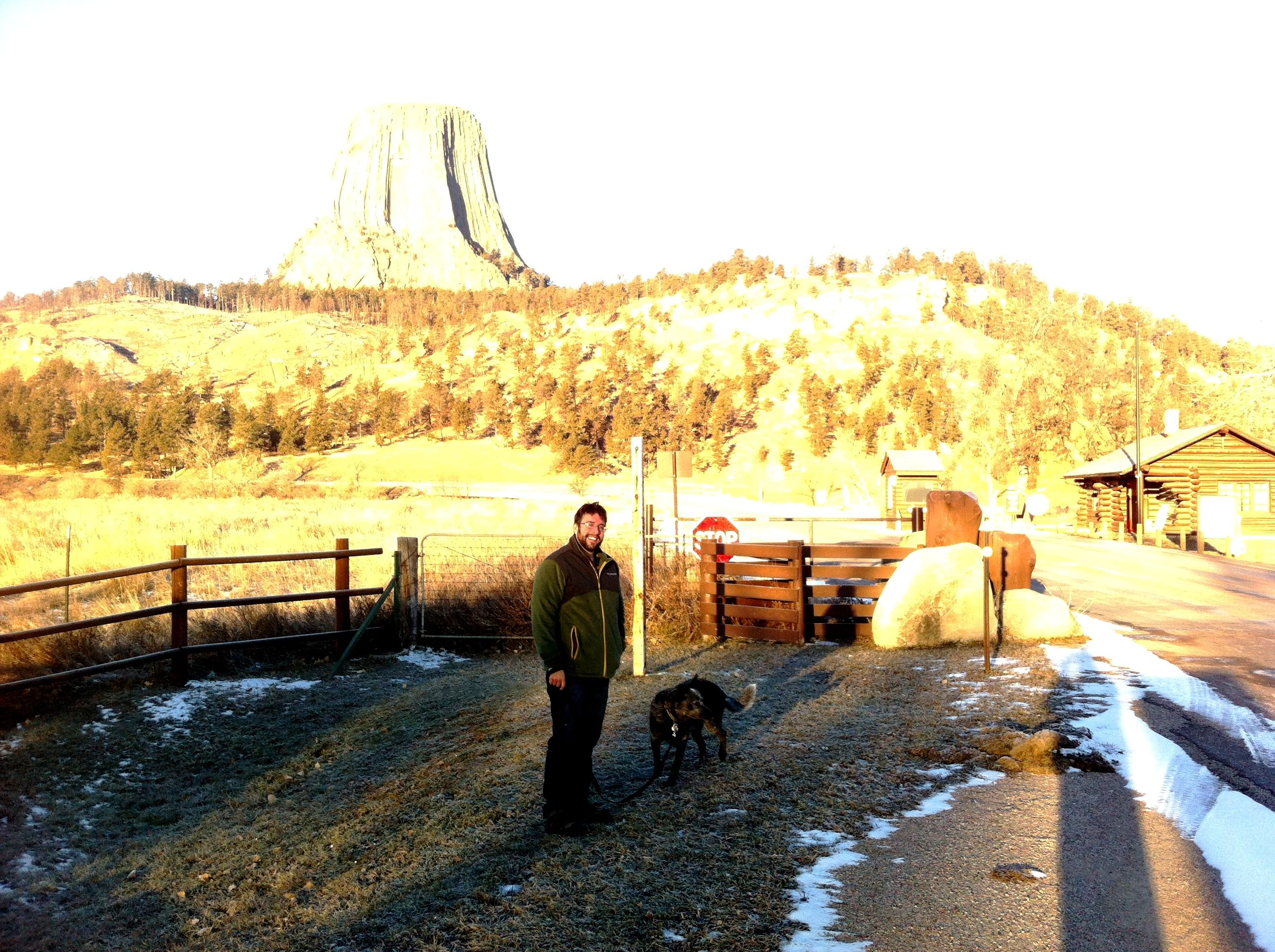 Jim and Beau at Devil's Tower - - - heading to an exciting life in Seattle