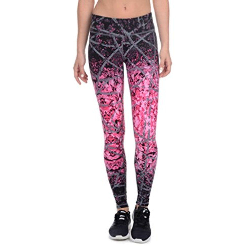 7b07e0d15d Danskin Womens Supplex CoolMax Active Stretch Printed Ankle Legging Yoga  Pants (Medium
