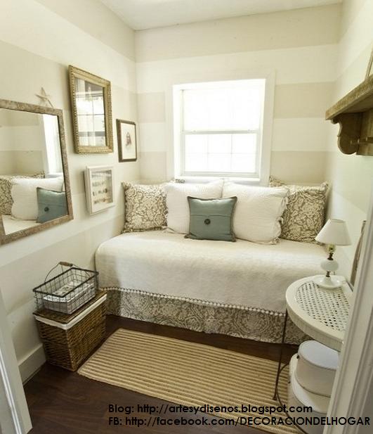 Dormitorios peque os c mo decorar dise ar dise o y Dormitorios matrimoniales pequenos