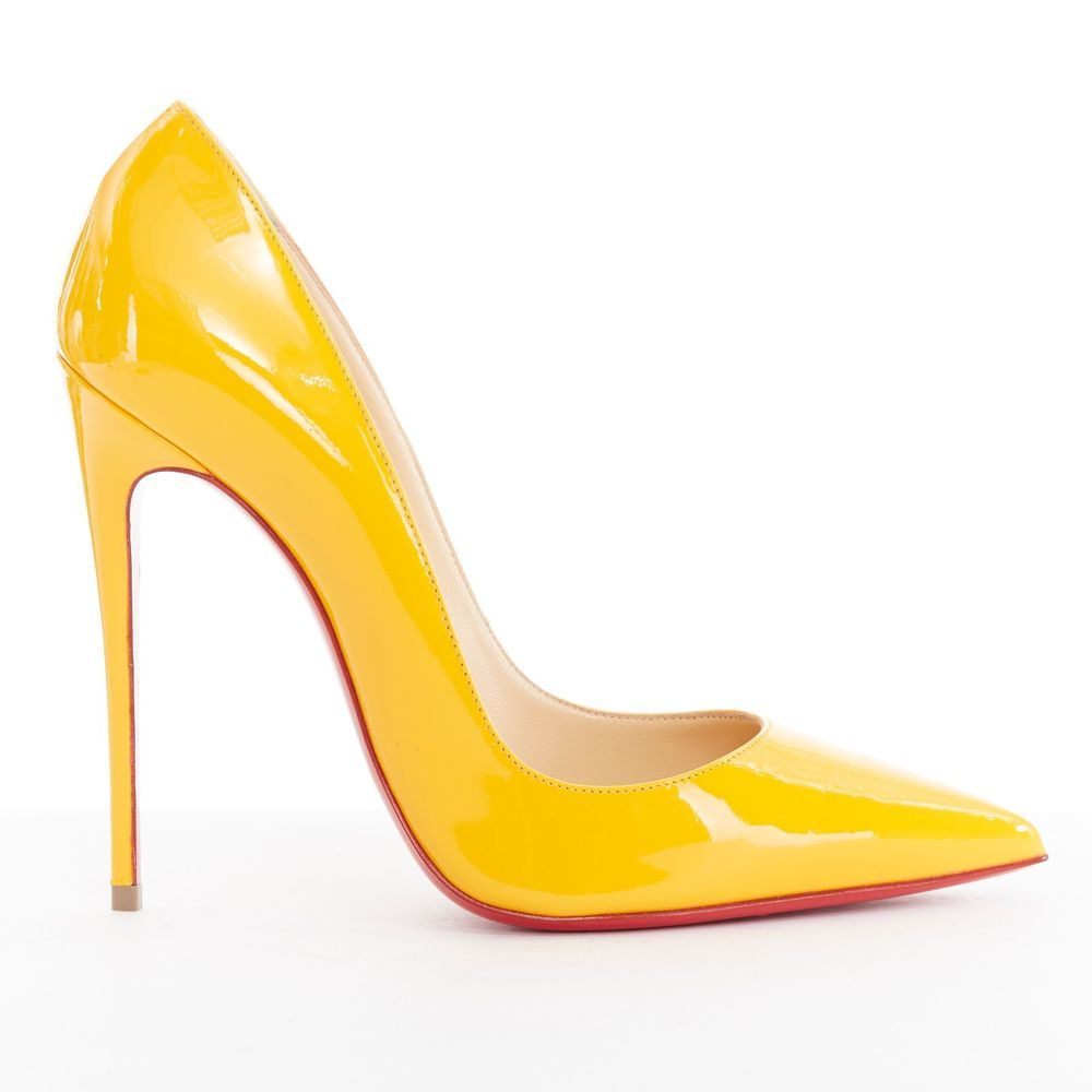 new CHRISTIAN LOUBOUTIN So Kate 120 yellow patent leather