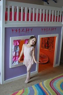 Girls Loft Bed Play House Home Made Piper S Pins Pinterest