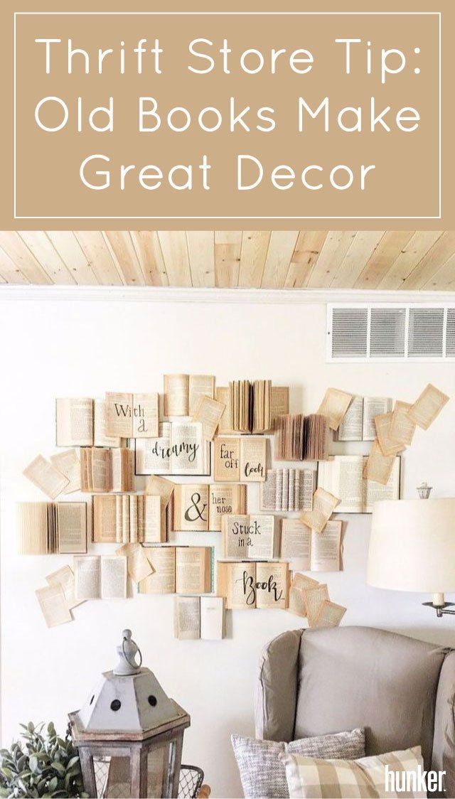 Thrift Store Tip Old Books Make Great Decor DiY! CrAfTs  DeCor