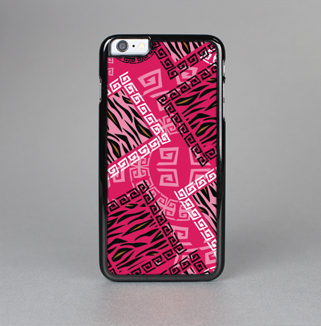 The Pink Patched Animal Print Skin-Sert for the Apple iPhone 6 Plus Skin-Sert Case