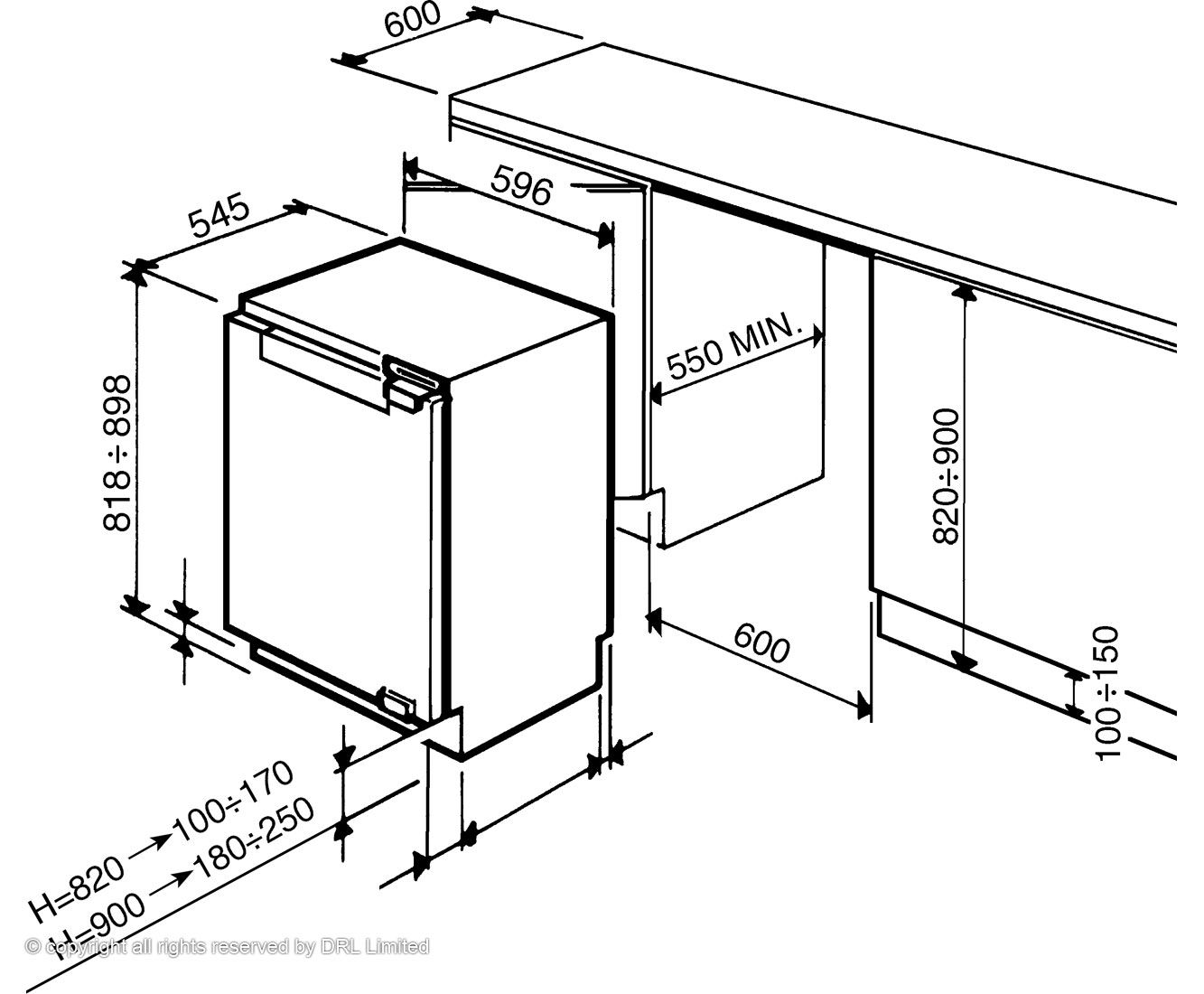 Lovely Undercounter Refrigerator Dimensions