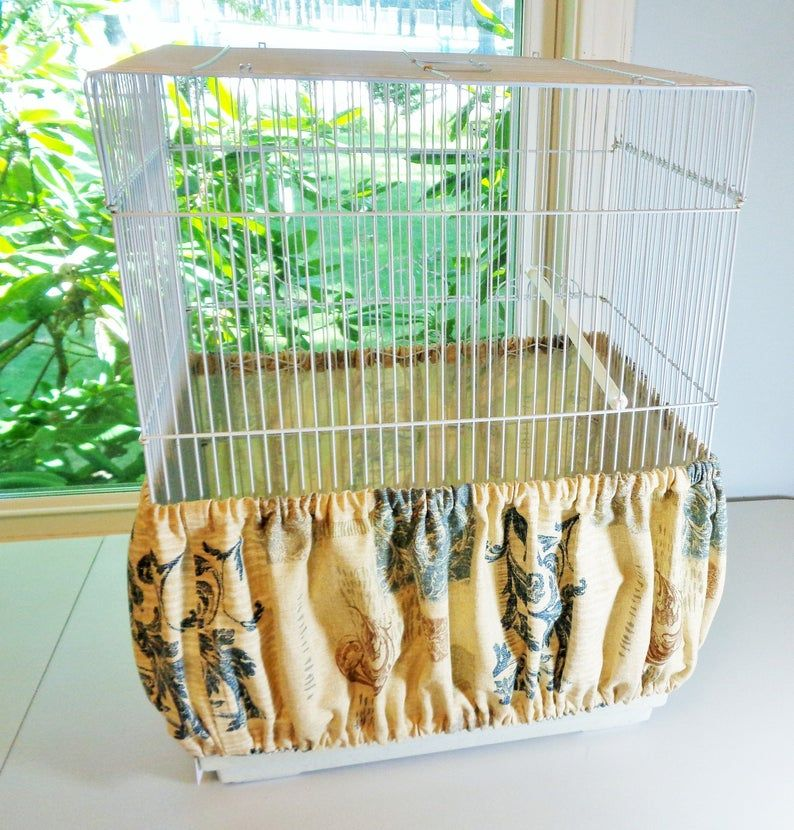Large Extra Large Bird Cage Cover And Seed Catcher Skirt Set Etsy In 2020 Bird Cage Covers Large Bird Cages Diy Bird Cage