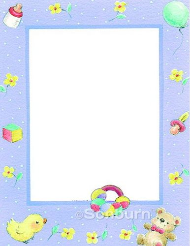 Printable Baby Shower Border Paper Pictures Family history