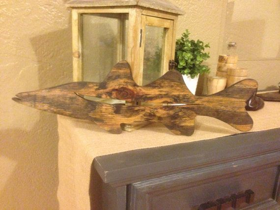 Snook reclaimed wood wall decor by ProjectAbbelene on Etsy, $36.00 ...