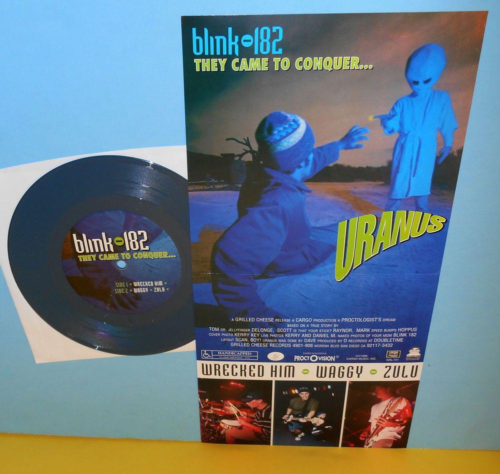 Blink 182 They Came To Conquer Uranus Opaque Blue Vinyl 7 Record Vinyl Vinyl Records Blue Vinyl