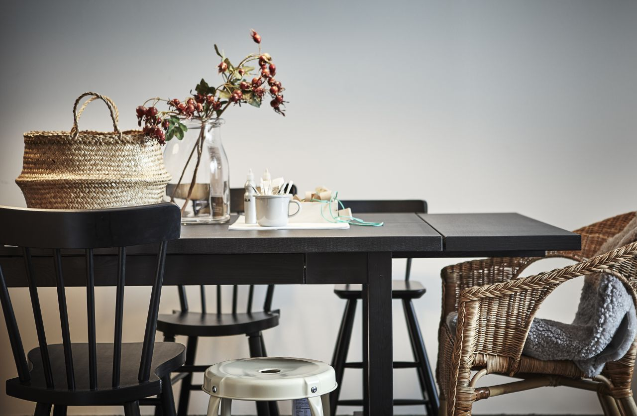 Mix Match Different Chairs Seats And Stools Around One Dining