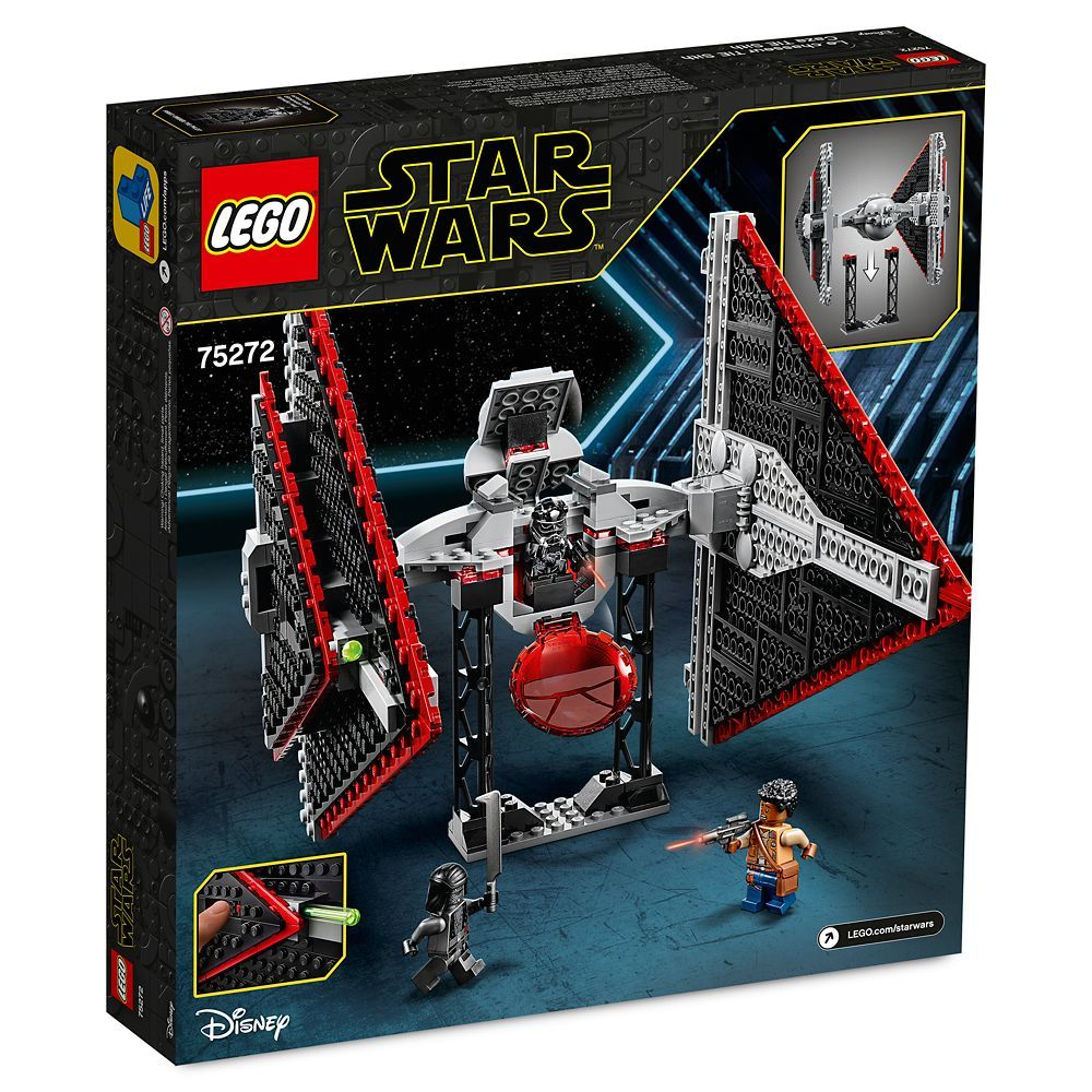 Sith Tie Fighter Building Set By Lego Star Wars The Rise Of Skywalker Shopdisney Lego Star Wars Star Wars Sith Lego Star