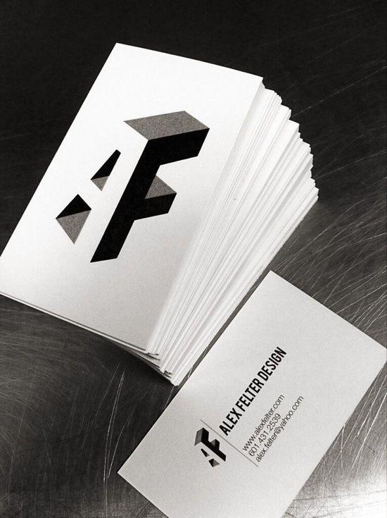 Alex felter minimal business cards card designs pinterest alex felter minimal business cards colourmoves