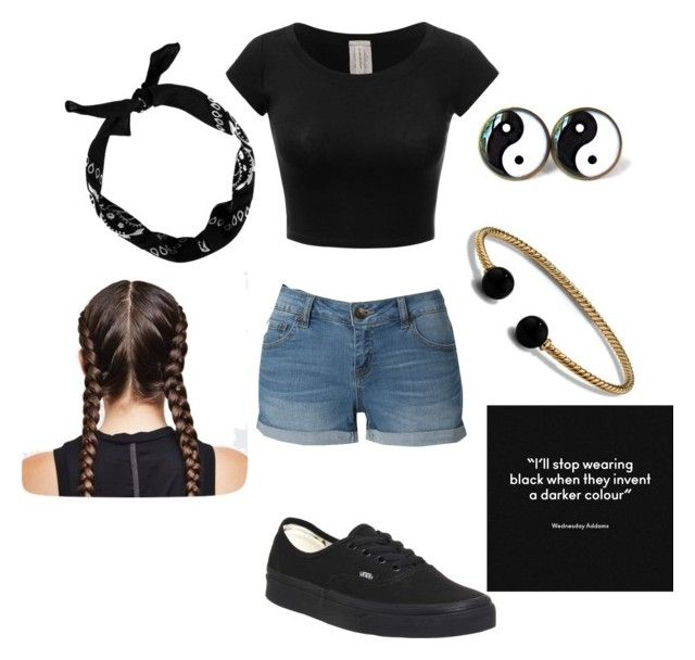 """A Darker Color"" by otter-slide ❤ liked on Polyvore featuring LE3NO, Vans, New Look and David Yurman"