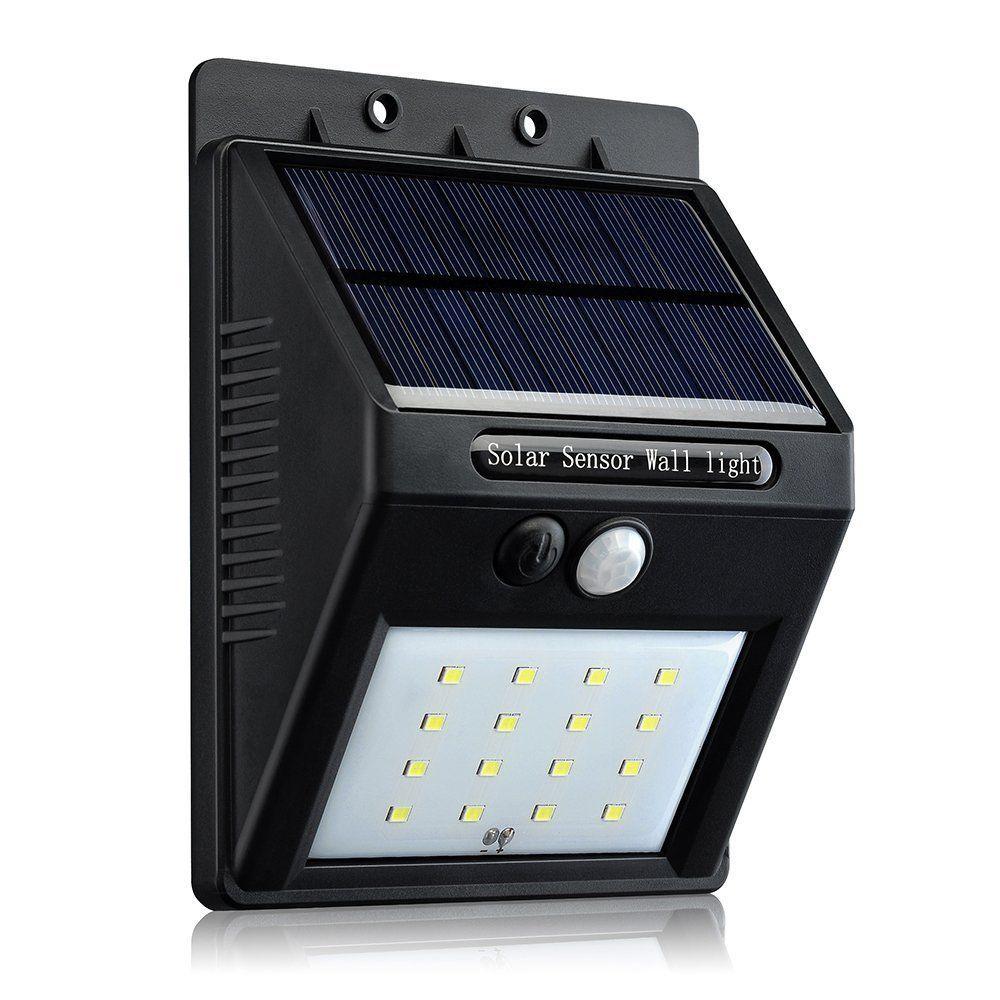 Gugou 16 Big LED Solar Sensor Powered Wall