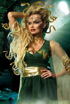 mythical medusa fancy dress costume stunning sparkly gown with accessories available from july - Stunning Halloween Costumes