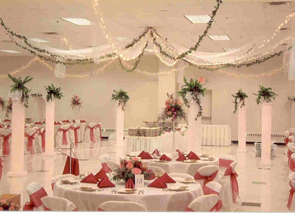 Elegant wedding reception decoration wedding hall decor tulle elegant wedding reception decoration wedding hall decor tulle and twinkle lights weddings junglespirit Image collections