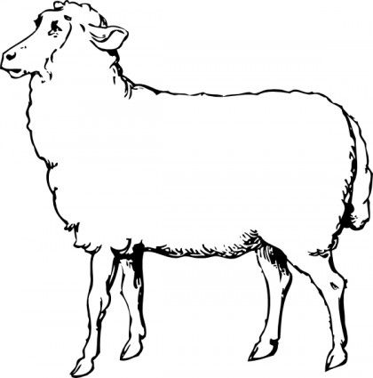 Sheep Clip Art For Svg