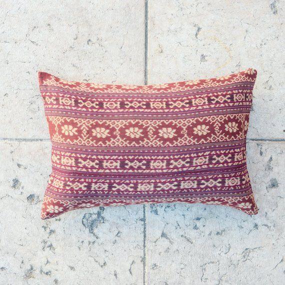 PURPLE Ikat Pillow Cover - Tribal pillow, Throw Pillow, 16x23 pillowcase, Floral pillow, Striped pillow, Boho pillow